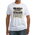 Reward Horse Thief Fitted T-Shirt