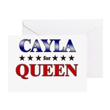 CAYLA for queen Greeting Card