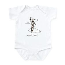 Yee Haw! brown roper Infant Bodysuit