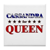 CASSANDRA for queen Tile Coaster