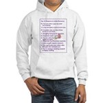Top Ten Reasons Hooded Sweatshirt