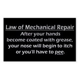 Law of Mechanical Repair Decal