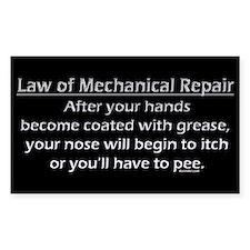Law of Mechanical Repair Decal