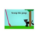 Scoop the dog poop Rectangle Magnet