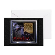Poe's The Raven - Greeting Card
