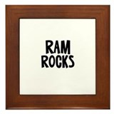 Ram Rocks Framed Tile