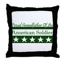 Grandfather of American Soldi Throw Pillow