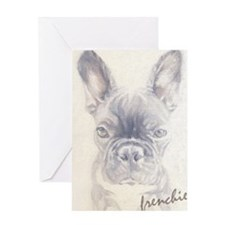 French Bulldog Painting Greeting Card