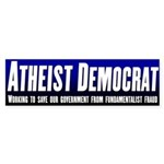 Atheist Democrat Bumper Sticker