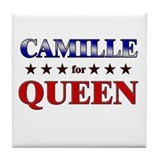 CAMILLE for queen Tile Coaster