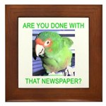 Useful Newspaper Framed Tile