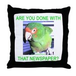 Useful Newspaper Throw Pillow