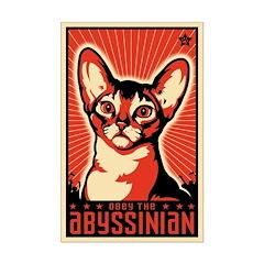 Obey the Abyssinian! Propaganda Mini Poster