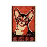 Obey the Abyssinian! Retro Cat Magnet
