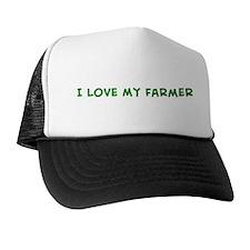 I Love My Farmer Trucker Hat