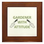 Gardener with Attitude Framed Tile