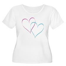 Pink & Blue Hearts T-Shirt