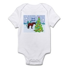 Let It Snow Clydedale Holiday Infant Bodysuit