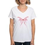 heart wings Women's V-Neck T-Shirt