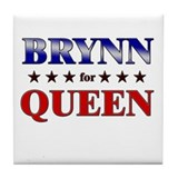 BRYNN for queen Tile Coaster