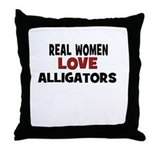 Real Women Love Alligators Throw Pillow
