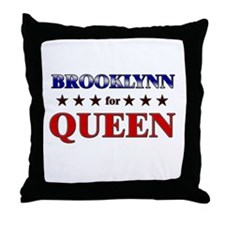 BROOKLYNN for queen Throw Pillow