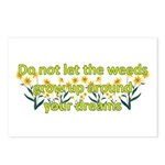 Do not let the weeds grow up Postcards (Package of