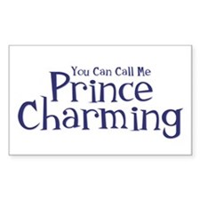 Call Me Prince Charming Rectangle Decal