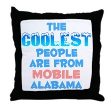 Coolest: Mobile, AL Throw Pillow