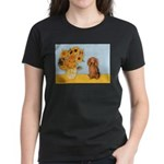 Sunflowers - Doxie (LH,S) Women's Dark T-Shirt