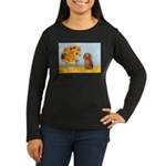 Sunflowers - Doxie (LH,S) Women's Long Sleeve Dark