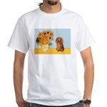 Sunflowers - Doxie (LH,S) White T-Shirt