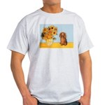 Sunflowers - Doxie (LH,S) Light T-Shirt