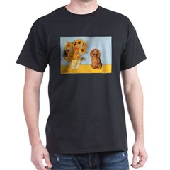 Sunflowers - Doxie (LH,S) Dark T-Shirt