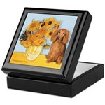Sunflowers - Doxie (LH,S) Keepsake Box