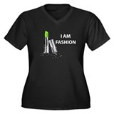 I AM FASHION LIP STICK Women's Plus Size V-Neck Da