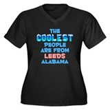 Coolest: Leeds, AL Women's Plus Size V-Neck Dark T