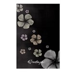 Hibiscus on Black Postcards (Package of 8)