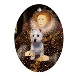 Queen Liz & Her Westie Ornament (Oval)