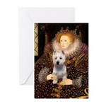 Queen Liz & Her Westie Greeting Cards (Pk of 10)