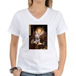 Queen Liz & Her Westie Women's V-Neck T-Shirt