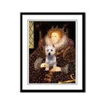 Queen Liz & Her Westie Framed Panel Print