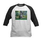 Lily Pond Bridge/Giant Schnau Kids Baseball Jersey