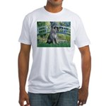 Lily Pond Bridge/Giant Schnau Fitted T-Shirt