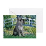 Lily Pond Bridge/Giant Schnau Greeting Cards (Pk o