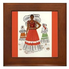 Covarrubias Tehuana Ceramic Art Tile Framed Tile