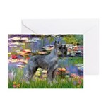 Lilies #2 & PS Giant Schnauze Greeting Cards (Pk o