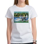 PS G. Schnauzer & Sailboats Women's T-Shirt