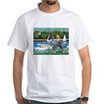 PS G. Schnauzer & Sailboats White T-Shirt