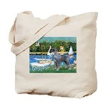 PS G. Schnauzer & Sailboats Tote Bag